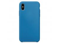 Husa TPU OEM Pure Silicone pentru Apple iPhone 11 Pro, Albastra, Blister