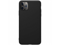 Husa TPU Nillkin Pure Silicone pentru Apple iPhone 11 Pro Max, Neagra, Blister