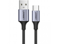 Cablu Date si Incarcare USB la USB Type-C UGREEN Quick Charge 3.0 3A, 1 m, Gri, Bulk