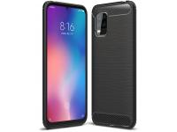 Husa TPU Tech-Protect Carbon pentru Xiaomi Mi 10 Lite 5G, Neagra, Blister