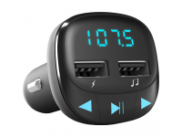 Modulator FM Bluetooth Energy Sistem, MP3 Player, Buton de apel, 2 x USB, MicroSD, Negru, Blister ENS448241
