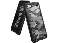 Husa TPU Ringke Fusion X CAMO pentru Apple iPhone 7 / Apple iPhone 8 / Apple iPhone SE (2020), Neagra, Blister XDAP0008