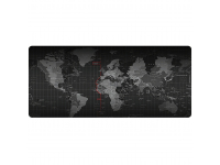 Mousepad World Map, 80 x 30 cm, negru