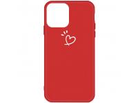 Husa TPU OEM Frosted Three Dots Love-heart pentru Apple iPhone 11 Pro Max, Rosie, Bulk