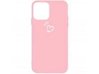 Husa TPU OEM Frosted Three Dots Love-heart pentru Apple iPhone 11, Roz, Bulk