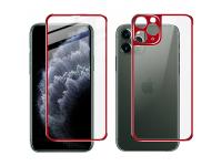 Folie Protectie Fata si Spate Imak pentru Apple iPhone 11 Pro Max, Plastic, Full Cover, Full Glue, Rosie, Blister