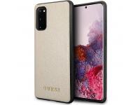 Husa Plastic - TPU Guess Iridescent pentru Samsung Galaxy S20 G980 / Samsung Galaxy S20 5G G981, Aurie GUHCS62IGLGO