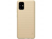 Husa Plastic Nillkin Super Frosted pentru Samsung Galaxy A71, Aurie, Blister