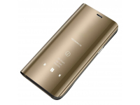 Husa Plastic OEM Clear View pentru Samsung Galaxy A71, Aurie, Blister