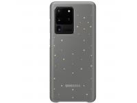 Husa Poliuretan Samsung Galaxy S20 Ultra G988, Led Cover, Gri, Blister EF-KG988CJEGEU