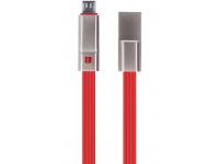Cablu Date si Incarcare USB la MicroUSB Forever Repairable 1.5A, 1.5 m, Rosu, Blister