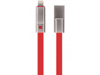Cablu Date si Incarcare USB la Lightning Forever Repairable 1.5A, 1.5 m, Rosu, Blister