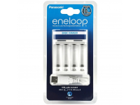 Incarcator USB  Panasonic Eneloop pentru baterii reincarcabile BQ-CC61, Alb, Blister