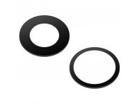 Geam Camera Spate Apple IPhone 11, Set 2 Buc, Wide + UltraWide, Negru