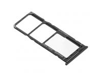 Suport Card - Suport SIM 1 / 2 Negru Samsung Galaxy A51 A515 Dual SIM