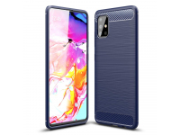 Husa TPU OEM Carbon pentru Samsung Galaxy A51, Bleumarin, Bulk