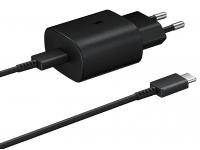 Incarcator Retea cu cablu USB Tip-C Samsung EP-TA800EBE, Fast Charge, 25W, 1 X USB Tip-C, Negru, Bulk