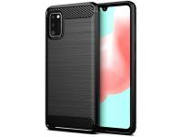 Husa TPU OEM Carbon pentru Samsung Galaxy A41, Neagra, Bulk
