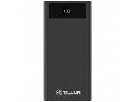 Baterie Externa Powerbank Tellur PD200, 2xQC3.0 + PD 18W 20000 mA, 2 x USB, Neagra, Blister TLL158241