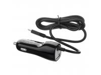 Incarcator Auto cu fir MicroUSB avo+, 2.4A, 1 X USB, Negru, Bulk