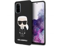 Husa TPU Karl Lagerfeld Ikonik Full Body pentru Samsung Galaxy S20 Plus G985, Neagra, Blister KLHCS67SLFKBK