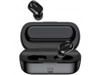 Handsfree Casti Bluetooth Baseus TWS Encok W01 waterproof, SinglePoint, Negru, Blister NGW01-01