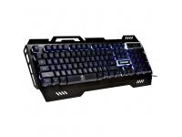 Tastatura  USB Gaming Rebeltec DEFENDER Iluminata, Neagra  Blister   RBLKLA00019