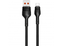 Cablu Date si Incarcare USB la USB Type-C XO Design NB55, 5A, 1 m, Negru, Blister