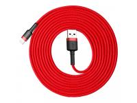 Cablu Date si Incarcare USB la Lightning Baseus Cafule QC3.0, 2A, 3 m, Rosu, Blister CALKLF-R09