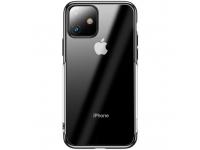 Husa TPU Baseus Shining pentru Apple iPhone 11, Neagra, Blister ARAPIPH61S-MD01