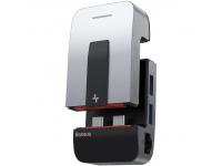 Suport Laptop & Hub Baseus USB Typ C - USB 3.0 / RJ45 / 3,5 mm mini jack / HDMI / USB Typ C / Thunderbolt 3 pentru MacBook Pro, Gri, Blister CAHUB-AJ0G