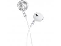 Handsfree Casti EarBuds HOCO L13 Grandee, 1.2m, Cu microfon, USB Type-C, Alb, Blister