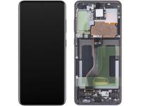 Display - Touchscreen Samsung Galaxy S20 Plus G985 / Samsung Galaxy S20 Plus 5G G986, Cu Rama, Negru GH82-22145A
