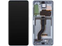 Display - Touchscreen Samsung Galaxy S20 Plus G985 / Samsung Galaxy S20 Plus 5G G986, Cu Rama, Bleu GH82-22145D