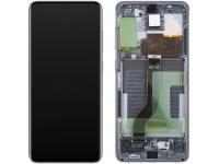Display - Touchscreen Samsung Galaxy S20 Plus G985 / Samsung Galaxy S20 Plus 5G G986, Cu Rama, Gri GH82-22134E