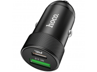 Incarcator Auto USB HOCO Z32B Speed Up PD+QC3.0, 27W, 2 X USB, Negru, Blister