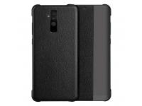 Husa Plastic - Poliuretan OEM Sleep Case pentru Huawei Mate 20 Lite, Neagra, Bulk