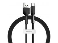 Cablu Date si Incarcare USB la USB Type-C Baseus 3A, 480 Mbps, 1 m, Negru, Blister CATGJ-01