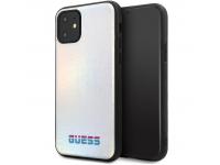 Husa Piele - TPU Guess Iridescent pentru Apple iPhone 11, Argintie, Blister GUHCN61BLD