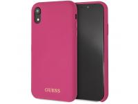 Husa TPU Guess Logo pentru Apple iPhone XR, Roz, Blister GUHCI61LSGLPI
