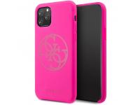 Husa Plastic - TPU Guess pentru Apple iPhone 11 Pro, 4G Tone On Tone, Ciclam, Blister GUHCN58LS4GFU