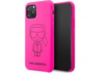 Husa TPU Karl Lagerfeld pentru Apple iPhone 11 Pro, Roz, Blister KLHCN58SILFLPI