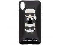 Husa TPU Karl Lagerfeld pentru Apple iPhone XR, Karl & Choupette, Neagra, Blister KLHCI61TPUKICKC