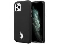 Husa TPU U.S. Polo Wrapped pentru Apple iPhone 11 Pro, Neagra, Blister USHCN58PUBK