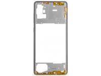 Carcasa Mijloc Samsung Galaxy A71 A715, Alb