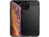 Husa TPU Forcell Carbon pentru Apple iPhone 11 Pro, Neagra, Bulk