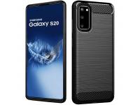 Husa TPU Forcell Carbon pentru Samsung Galaxy S20 G980 / Samsung Galaxy S20 5G G981, Neagra