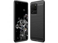 Husa TPU Forcell Carbon pentru Samsung Galaxy S20 Ultra G988, Neagra, Bulk