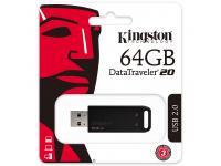 Memorie Externa Kingston DT20, 64Gb, USB 2.0, Neagra, Blister DT20/64GB