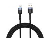 Cablu Date si Incarcare USB la MicroUSB Tellur LED, 2A, 2 m, Negru, Blister TLL155304
